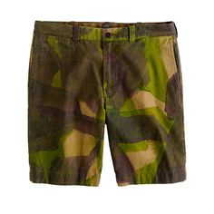 J. Crew Hand-Painted Camo Short