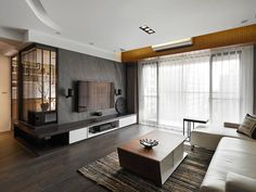 Living Room Tv, Living Room Modern, Home And Living, Living Area, Living Room Designs, Home Interior, Living Room Interior, Modern Interior, Interior Architecture