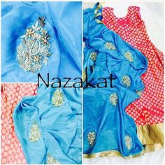 Shipped to Canada ✈️ Pretty hot pink anarkali with the bling of golden zari teamed up with a blue dupatta with handwork zardozi detailing  Can be customised Please inbox for details Shipping worldwide  For more: www.facebook.com/nazakatjal #pink #magenta #blue #turquoise #gold #golden #bling #zardozi #pretty #gorgeous #elegant #beautiful #lovely #awesome #amazing #indian #indianwear #ladies #ladieswear #women #womenwear