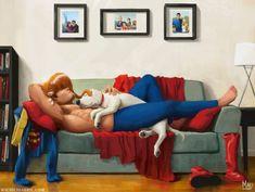 Super Nap Time by Mauricio Abril : superman Superman Art, Superman Family, Superman News, Batman Vs, Action Comics 1, Superman Wonder Woman, Mundo Comic, Clark Kent, Man Of Steel