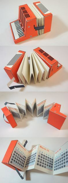 Accordion Calendar 2010 by Bryan of Paper Foldables