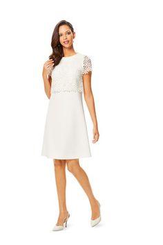 Februar-Fertigschnitt - burda style - Das Kleid mit kurzen Ärmeln hat mädchenhaften Charme.