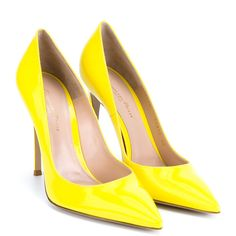 15d0d6e55856 See this and similar Gianvito Rossi pumps - These bright yellow Gianvito  Rossi patent point-toe pumps will inject youthful energy and vibrancy into  any ...