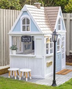 Kids Outdoor Play, Outdoor Play Areas, Kids Play Area, Backyard For Kids, Backyard Playhouse, Backyard Playground, Playhouse Ideas, Kids Cubby Houses, Play Houses