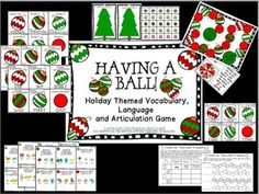 Having a Ball! Holiday Themed Vocabulary, Language and Art