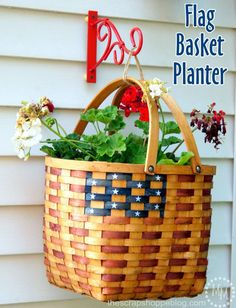 Hanging Flag Basket
