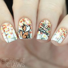 I also did this adorable mani with new Lovely Leaves 4 plate. For these I used mostly cremes. Autumn Nails, Nail Designs, Nail Art, My Favorite Things, Plate, Leaves, Painting, Inspiration, Beauty