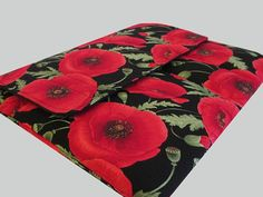 Microsoft Surface Case, Surface Book Case, Surface Sleeve, Surface Cover, Surface Pro 2 3 4 RT Case Red Poppies