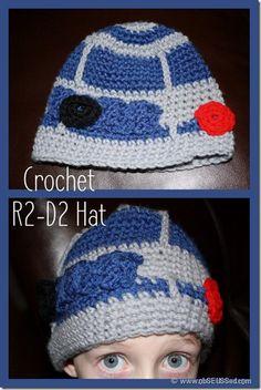 R2-D2 crochet hat #Star wars
