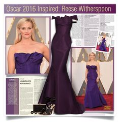 """""""Oscar 2016: Reese Witherspoon"""" by monazor ❤ liked on Polyvore featuring McGinn, Zac Posen, Lipsy, Hermès, Gianvito Rossi and oscarfashion"""