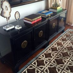 This black & brass credenza from Scout Design Studio made one bachelor very happy- thanks to Abbe Fenimore & team at Studio Ten 25 #wescout