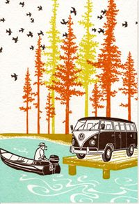 Love this print!  Reminds me of so many adventures in our own VW Westfalia.