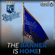 We're heading into the bottom of the 2nd with your Kansas City Royals in the lead 1-0! And that banner!!!! #OpeningNight #ForeverRoyal