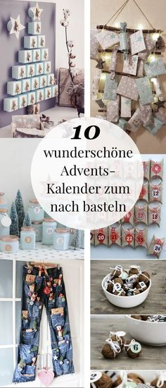 [ Adventskalender basteln – 10 kreative Bastelideen Tinker and fill advent calendars for men, women or children. With these simple ideas you can easily make an advent calendar without you. Creative DIY ideas to imitate. Christmas Crafts For Gifts, Craft Gifts, Diy Gifts, Christmas Time, Xmas, Creative Crafts, Diy And Crafts, Crafts For Kids, Creative Ideas