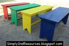 This is what the finished tables look like, to place in the middle of each cluster of desks.