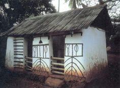 Shrine Dwelling, Africa. Possibly Orisha?