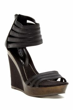 Bucco Eagly Multi-Strap Wedge Sandal