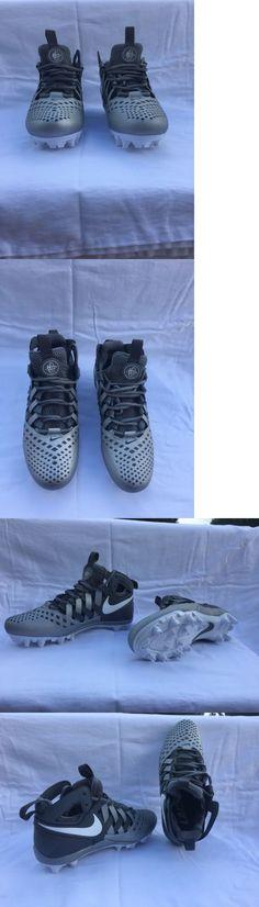 Footwear 159154: Nike Huarache V 5 Lax Lacrosse Football Cleats Silver Gray White Sz 7.5 -> BUY IT NOW ONLY: $60 on eBay!