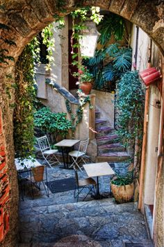 Provence Courtyard, France