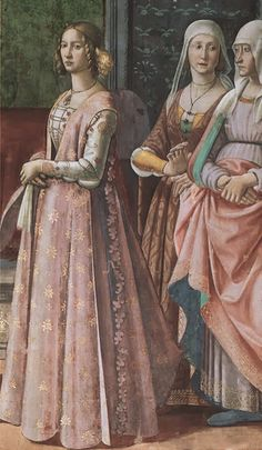 Florentine Dress, 1475-1500 - Images and article from Festive Attyre, Historical Costuming site