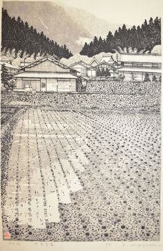 Artist: 	Miyajima Title: 	Early Spring at Ohara Medium: 	Woodblock Print Date:	1998