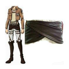 Amazon.com: Rulercosplay Attack on Titan (Shingeki No Kyojin) Leather Buttocks Cosplsy Apron: Home & Kitchen