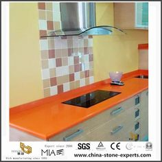 China Beautiful Different Custom Dark Orange Quartz Countertops for Bathroom and Kitchen Manufacturers, Suppliers - Wholesale Price - Yeyang Stone Factory Artificial Marble, Artificial Stone, Quartz Countertops, Kitchen Countertops, Living Environment, Tiles, Vanity, Wall Decor, China