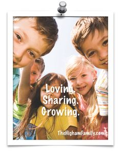 Teaching the kids to love, share, and grow. If you have kids and are looking for something to do this summer, you'll want to check this out. www.TheHighamFamily.com
