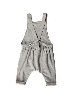 Organic Salopette / Grey Melange - BABY BOY - Products : Fawn Shoppe - Global Boutique For Unique Children's Designs