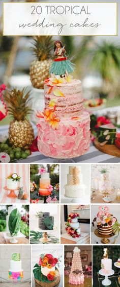 Tropical Wedding Cakes | SouthBound Bride | http://www.southboundbride.com/tropical-wedding-cakes