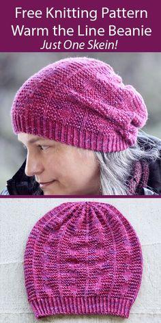 Knit Slouchy Hat Pattern, Beanie Knitting Patterns Free, Beanie Pattern Free, Knitting Machine Patterns, Knitting Paterns, Knitting Hats, Knit Hats, Knit Patterns, Free Knitting