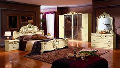 Sypialnia Barocco Ivory: łóżko, szafka nocna, komoda, szafa - Sypialnie - Rad-Pol - Meble Stylowe, meble włoskie, klasyczne meble retro, sofy stylowe, narożniki