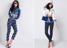 jackets, bleached out printed denim, striped linen, stonewashed jeans,
