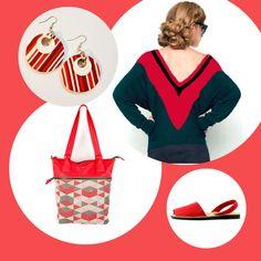 V I A V A I . Move your style. A tutto rosso! Pull e bag Skunkfunk, sandali Menorquinas, orecchini in fimo La Cannacchia