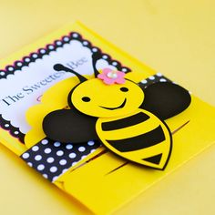 Items similar to Custom Bumble Bee Party Invitations - set of 48 on Etsy Bumble Bee Invitations, Bumble Bee Decorations, Mommy To Bee, Mothers Day Crafts For Kids, Bee Party, Cute Bee, Bee Crafts, Bee Theme, Pick Up