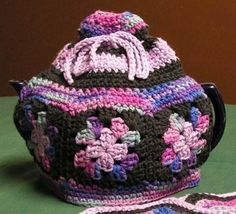 Granny Square Tea Cozy Crochet Pattern  - Wee Designs. $3.00, via Etsy.