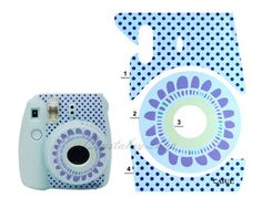 Blue Instax Mini 8 Sunflowers Decoration Sticker Instant For ...