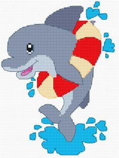 A small dolphin (sea,  mammal, zoo, for children, water)