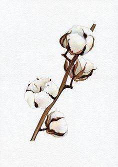 NEW PRINT Herbs Plants Cotton Print of Original Watercolor