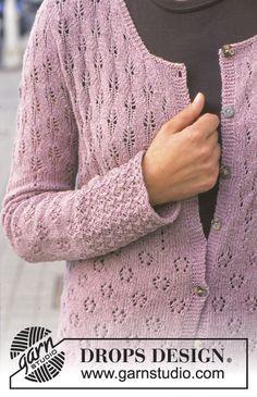 """DROPS 69-19 - DROPS lange Jacke in """"Silke-Tweed"""" mit verschiedenen Lochmustern - Free pattern by DROPS Design"""