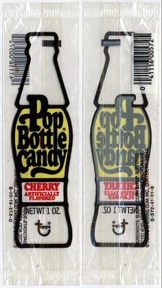 Topps - Pop Bottle Candy Cherry - cello pack wrapper -white background scan - 1979