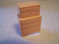 Marx Pink Bedroom Traditional High boy Dresser Dollhouse Toy Furniture Hard Plastic on Etsy, $3.99