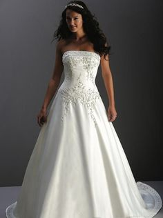 a line princess strapless chapel train wedding dress for brides 2010 stylewda1723