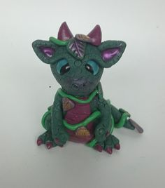 Polymer Clay Jungle Dragon Twisted & Troublesome Friends March 2015