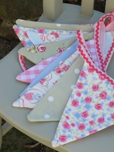 Homemade bunting by Tea & Roses.