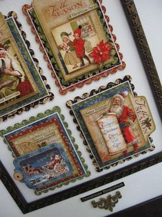 Christmas Emporium Wall Art Close-up.   By Lynette Carroll.