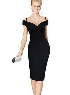 Nice-forever New Sexy Elegant Solid Stylish Casual Work Strap Slash Neck  Bodycon Knee Midi Women Formal Pencil Dress fb4ff917d5ce