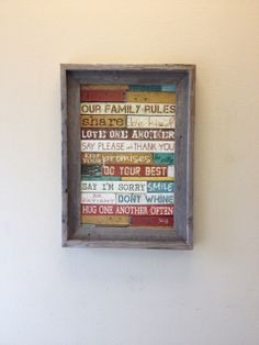 Family Rules - Custom Barnwood Frames