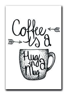 'Coffee is a hug in a mug' Kaart