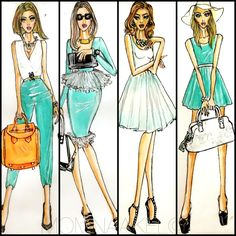 Check out these awesome fashion sketches from momnaakel